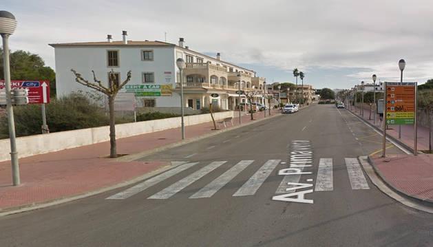 Vista de la Avenida Primavera de la localidad de Ses Salines.