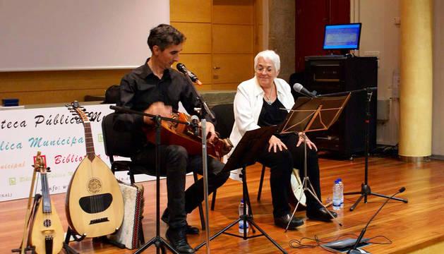 Emilio Arias y Toti Martínez de Lezea en una sesión anterior.