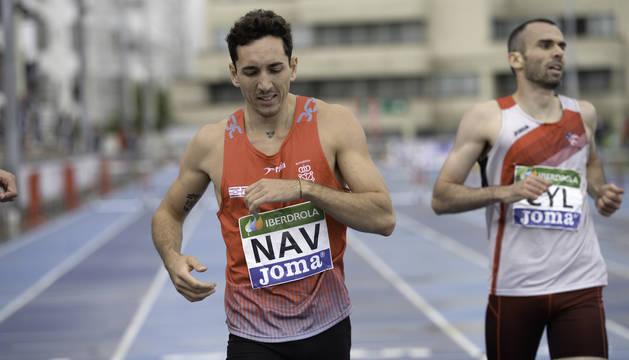 Sergio Fernández, en la carrera del nacional de Federaciones que ganó en Larrabide.