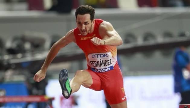 foto de El corredor de 400 metros vallas navarro, Sergio Fernández