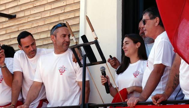 Fotos del cohete de fiestas de Cortes este sábado 28 de septiembre