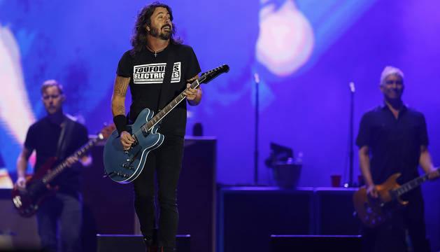 Dave Grohl, de Foo Fighters, durante la actuación del grupo en Rock in Río 2019.