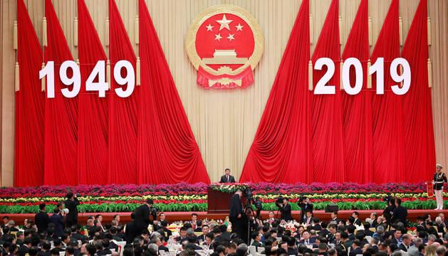 Discurso del presidente chino, Xi Jinping, por el aniversario de la República Popular.