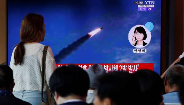 Corea del Norte realiza un nuevo lanzamiento de proyectiles de prueba