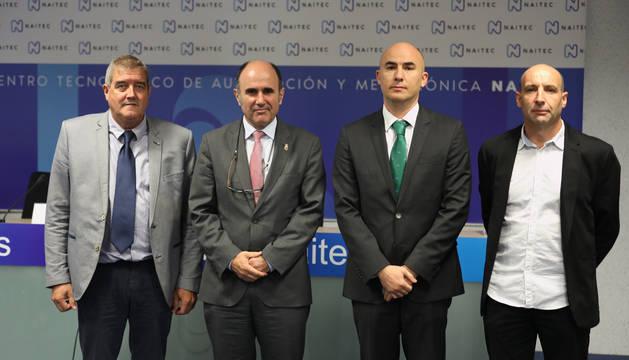 De izda. a dcha., Juan Carlos Artázcoz, Manu Ayerdi, Gabriel Galan y Martín Ibarra.