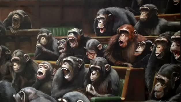 Chimpancés en el Parlamento británico