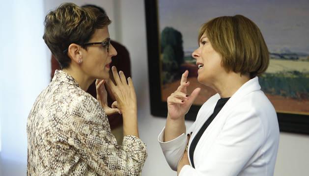 Los socios de Chivite presionan para que  recurra la sentencia al decreto del euskera