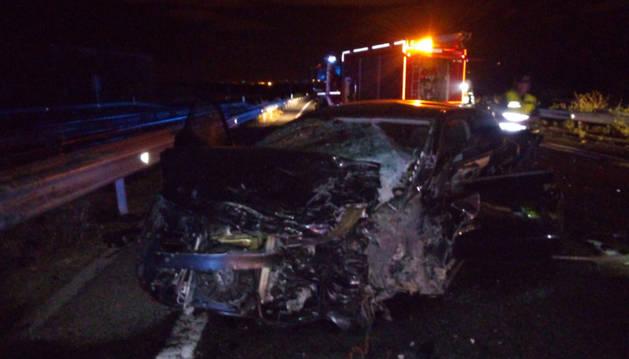 Un fallecido en una colisión lateral entre dos vehículos en la Cendea de Cizur (A-12)
