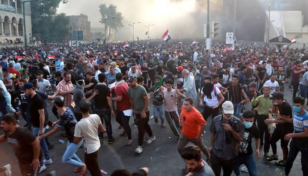 Al menos 73 muertos y casi 4.000 heridos en cuatro días de protestas en Irak