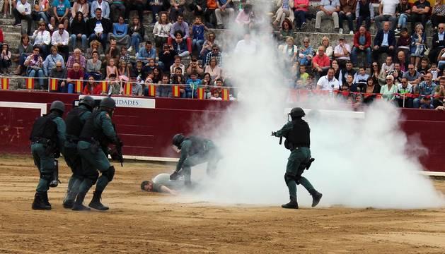 Exhibición de la Guardia Civil en Estella