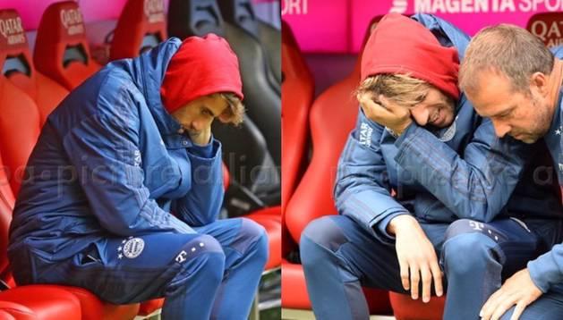 Una secuencia de imágenes de la frustración de Javi Martínez.