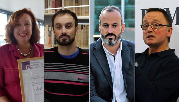 María Urmeneta, Xabier Aquerreta, Fermín Alonso y Eneko Astigarraga, invitados al debate.