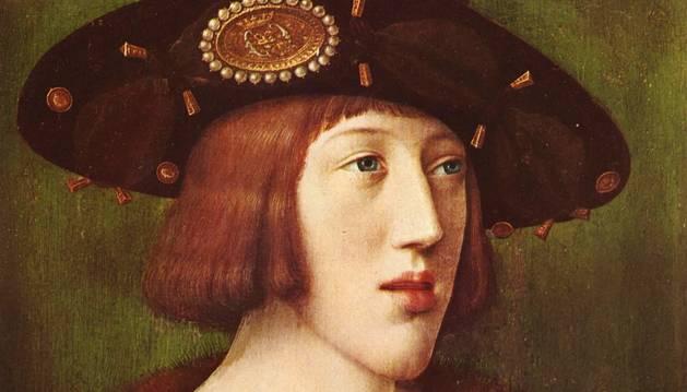 Retrato de juventud del rey Carlos, por Bernard van Orley.