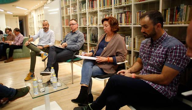 Foto, desde la izquierda, de Fermín Alonso, Eneko Astigarraga, María Urmeneta, Xabier Aquerreta.