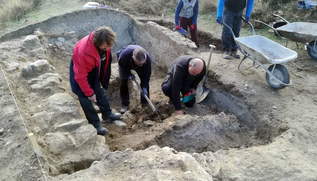 Imagen de las excavaciones del castillo que se llevaron a cabo el año pasado.