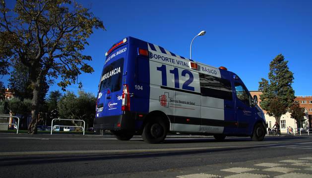 Foto de una ambulancia.