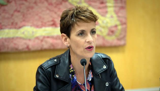 foto de La presidenta del Gobierno de Navarra, María Chivite