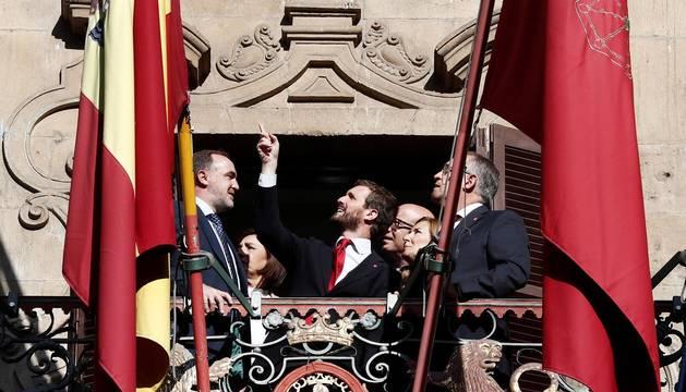Visita de Casado a Pamplona
