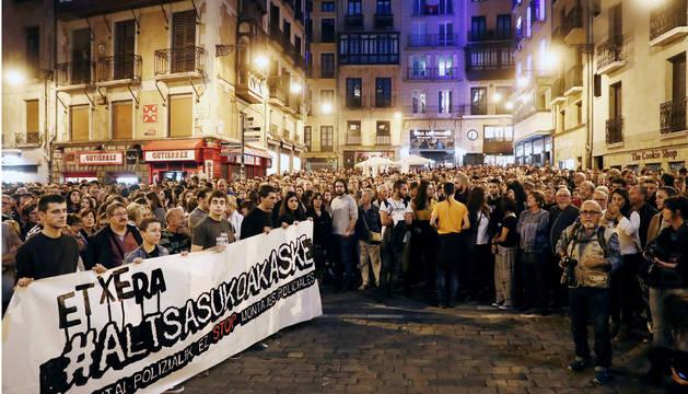 Manifestación en Pamplona de rechazo a la sentencia de Alsasua.