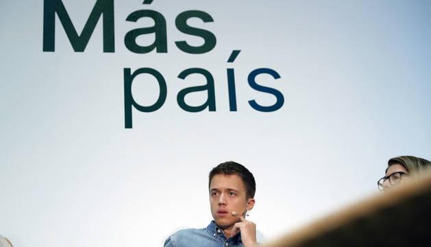 Foto del líder de Más País, Íñigo Errejón, durante la presentación de su programa.