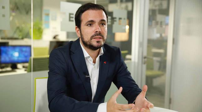 foto de El coordinador federal de IU, Alberto Garzón,
