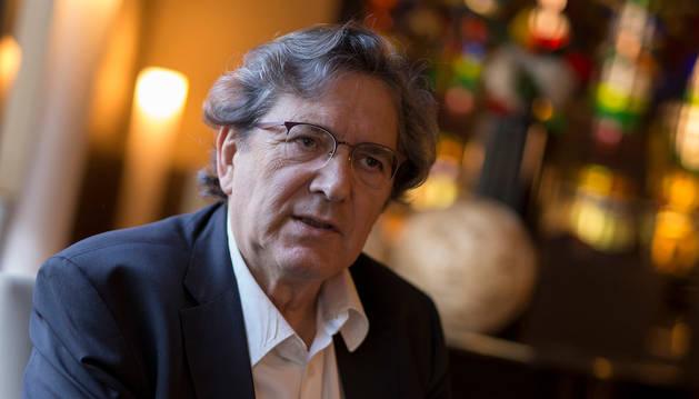 foto de Gerardo Herrero, este jueves, durante la entrevista en Pamplona.
