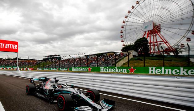 foto de El coche de Hamilton en la primera sesión de entrenamientos libres del Gran Premio de Japón