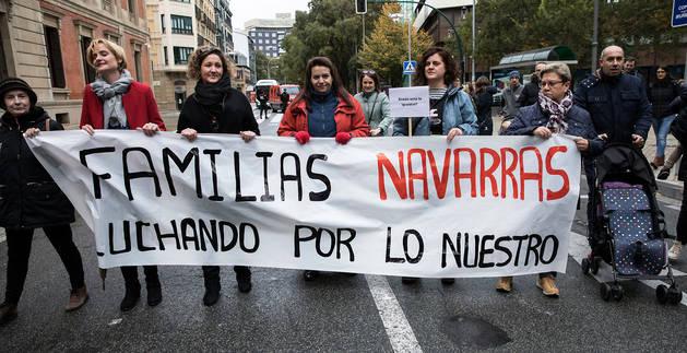Manifestación de las madres por la devolución del IRPF hace justo un año.