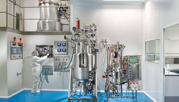 Foto del interior de la fábrica de 3P Biopharmaceuticals, en Noáin.