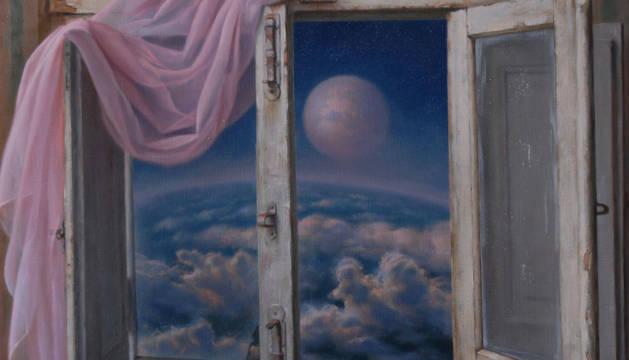 Foto de 'Horizonte', una de las obras llenas de simbolismo de la muestra.