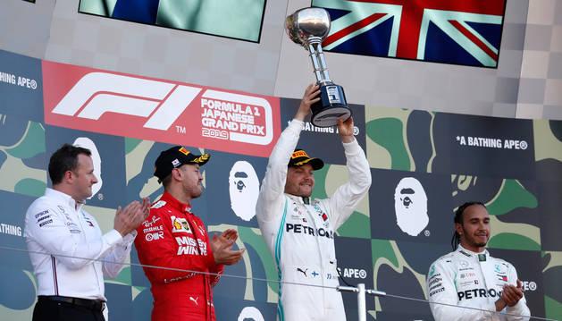 Bottas gana el Gran Premio de Japón por delante de Vettel y Hamilton