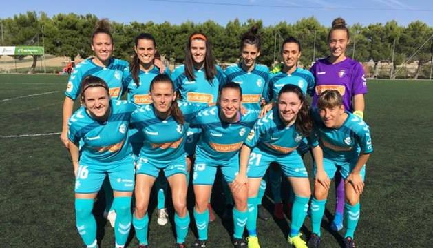 Once titular que puso Osasuna Femenino en el encuentro contra Parquesol en Valladolid.