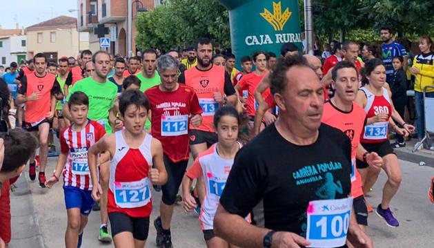 Foto de la carrera popular de Andosilla.