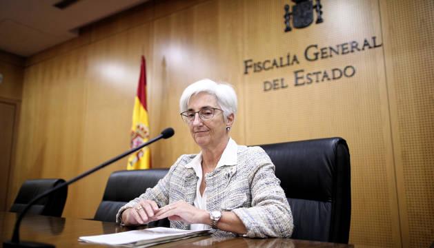 La Fiscal General del Estado, María José Segarra, comparece tras la sentencia del 'procés'.