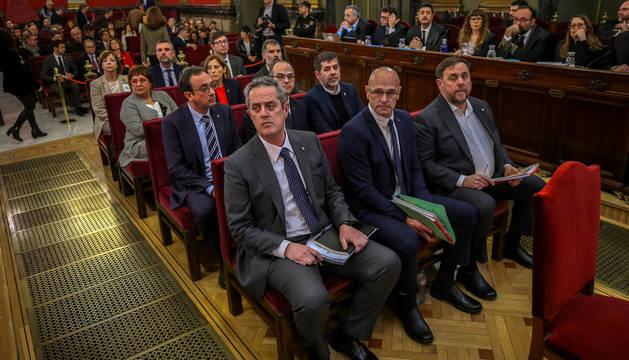 Los condenados, en el banquillo durante el juicio del Proces.