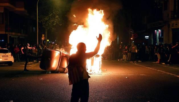 Segunda noche de disturbios en Barcelona tras la sentencia del 'procés'