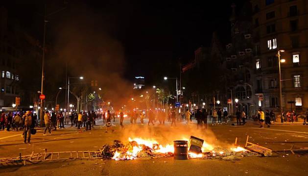 125 heridos en los altercados en Cataluña, 18 de ellos llevados a hospitales