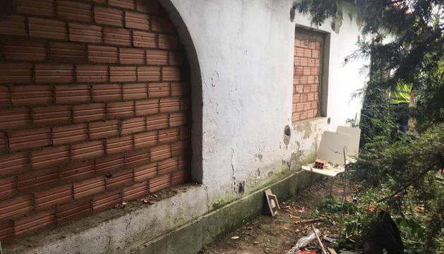 Tapiados los accesos a la Casa Arraiza en Aranzadi, okupada desde septiembre de 2017