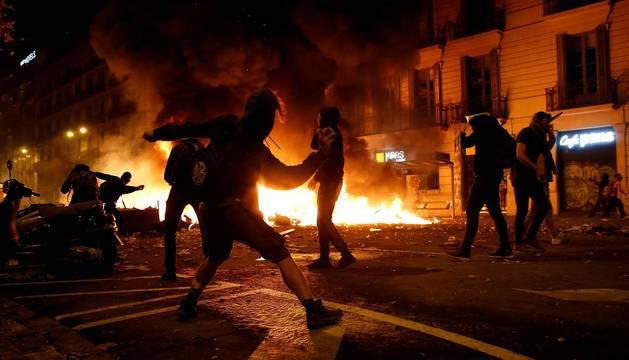 Huelga general y marchas independentistas en Barcelona