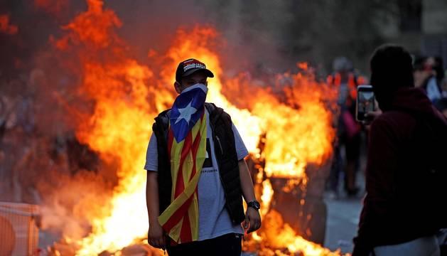 La cinco marchas independentistas colapsan las principales vías de Barcelona