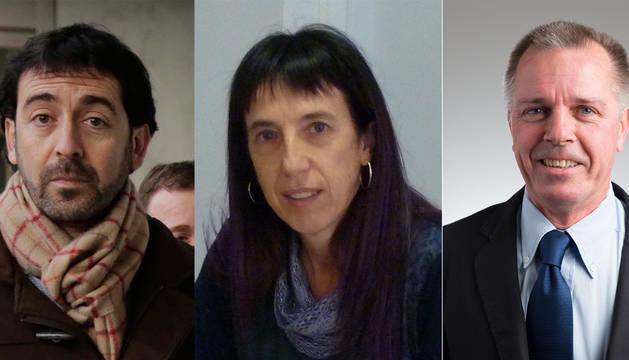 Ignacio Nagore (Obras Públicas), Álvaro Baraibar (Paz y Convivencia) y Mertxe Leránoz (Igualdad), los tres nuevos perceptores de cesantías.