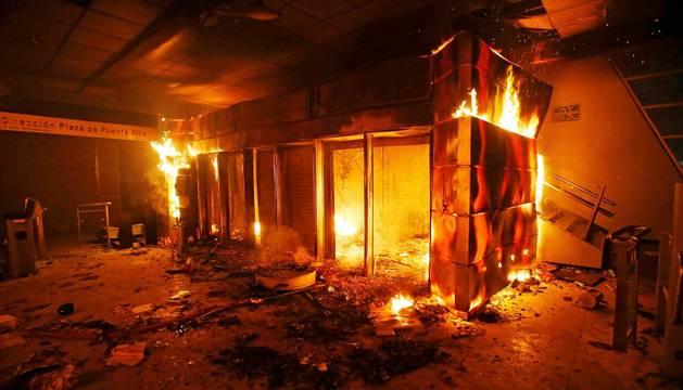 Disturbios en Santiago de Chile