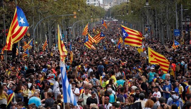 Manifestación en Barcelona en protesta por la sentencia del procés