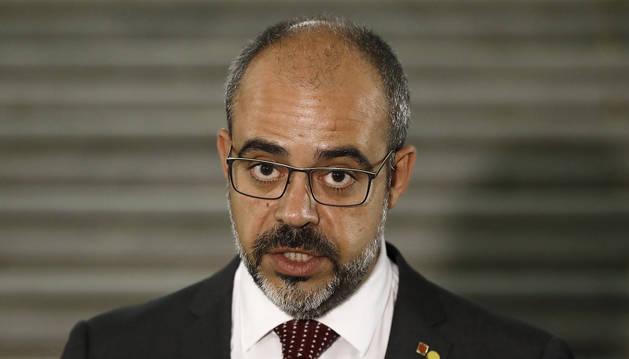 El conseller de Interior de la Generalitat, Miquel Buch, durante una comparecencia anterior.