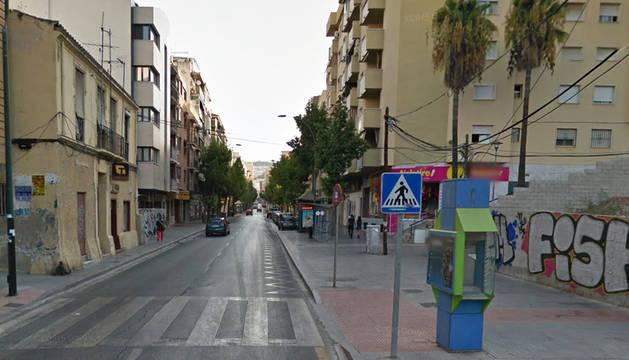 Alameda de los Capuchinos en el barrio por donde pasaba la prueba.