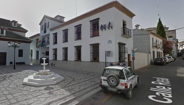 Plaza del Ayuntamiento de La Zubia, en Granada.