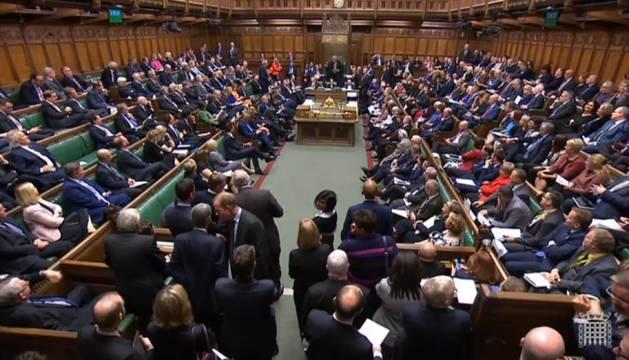 Foto del parlamento británico.