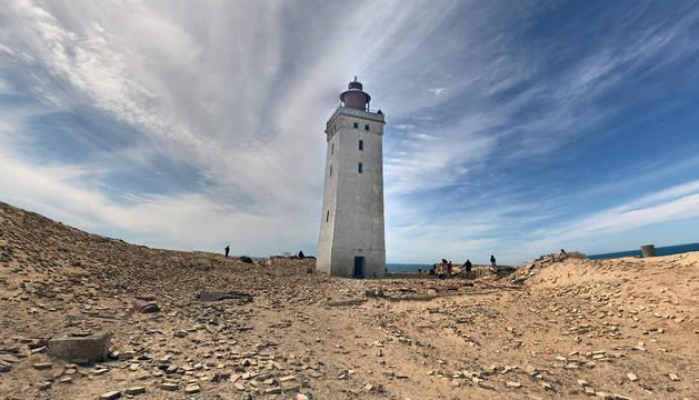 Faro de Rubjerg Knude, en Dinamarca.