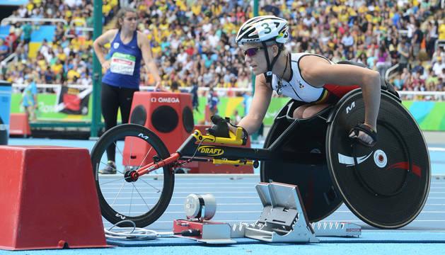 La belga Marieke Vervoort durante los Juegos Paralímpicos de Río de Janeiro de 2016