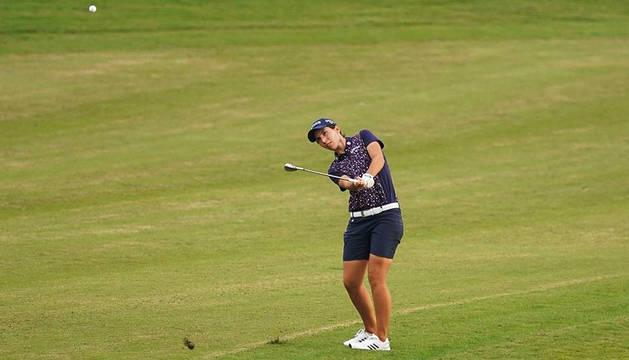 La navarra Carlota Ciganda, en el inicio ayer del torneo coreano.